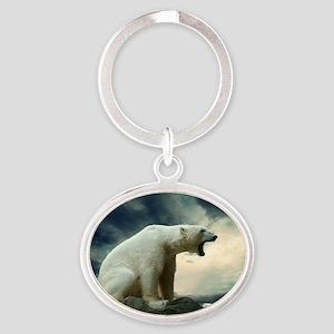 Polar Bear Roaring Keychains