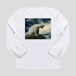 Polar Bear Roaring Long Sleeve T-Shirt