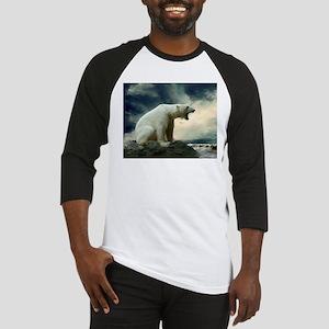 Polar Bear Roaring Baseball Jersey