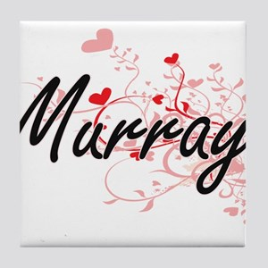 Murray Artistic Design with Hearts Tile Coaster