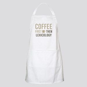 Coffee Then Lexicology Apron