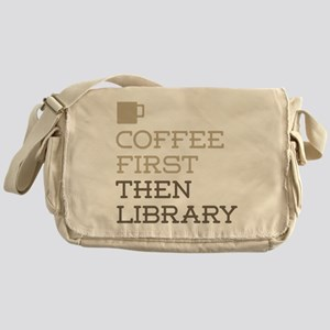 Coffee Then Library Messenger Bag