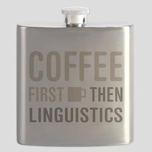 Coffee Then Linguistics Flask