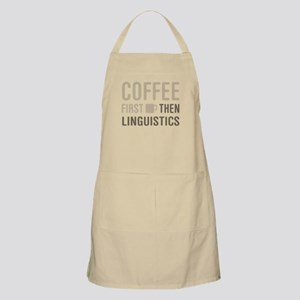 Coffee Then Linguistics Apron