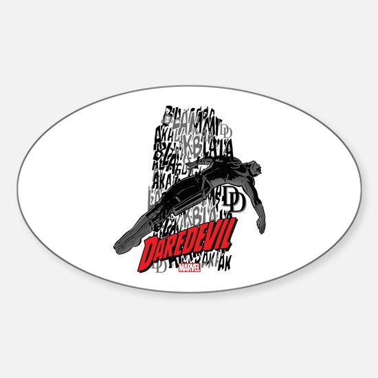 Daredevil Falling Sticker (Oval)