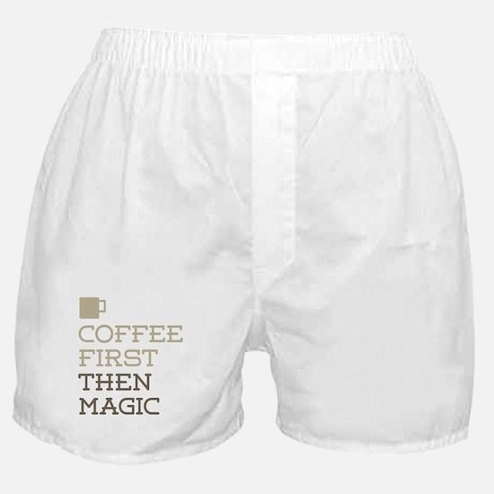 Coffee Then Magic Boxer Shorts
