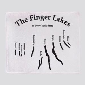 finger-lakes 2 logo Throw Blanket