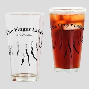 finger-lakes 2 logo Drinking Glass