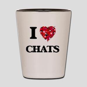 I love Chats Shot Glass