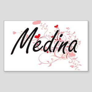 Medina Artistic Design with Hearts Sticker