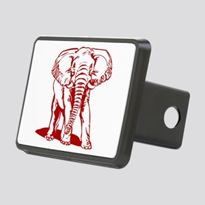 Cute Dark Red Elephant Lin Rectangular Hitch Cover