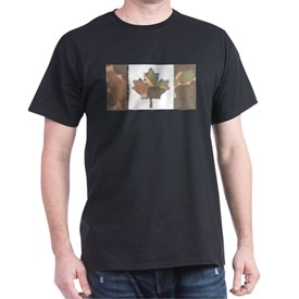 Canadian Flag Fall Brush with Red & Orange T-Shirt