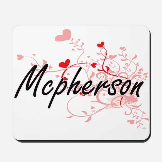 Mcpherson Artistic Design with Hearts Mousepad