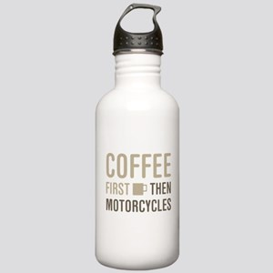 Coffee Then Motorcycle Stainless Water Bottle 1.0L