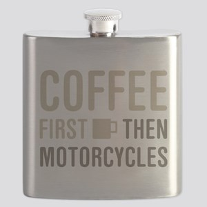 Coffee Then Motorcycles Flask
