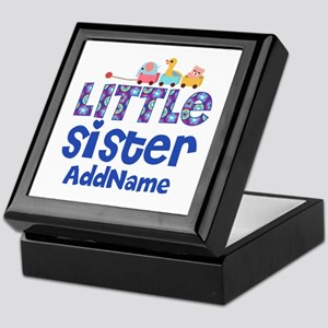 Personalized Name Little Sister Keepsake Box