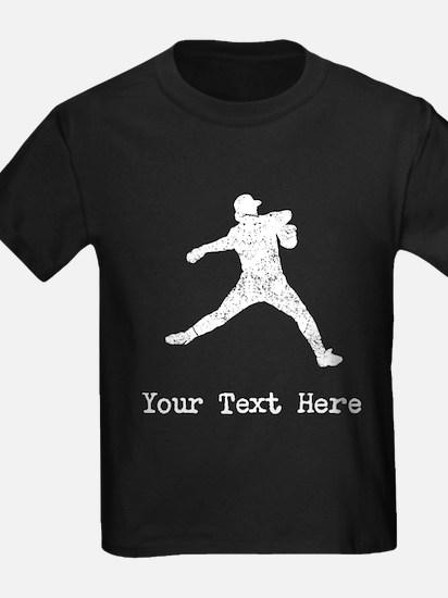 Vintage Baseball Pitcher (Custom) T-Shirt