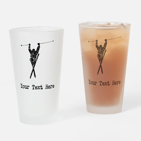 Vintage Extreme Skier (Custom) Drinking Glass
