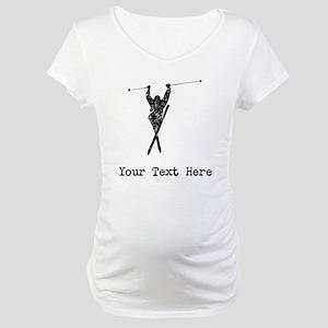 Vintage Extreme Skier (Custom) Maternity T-Shirt
