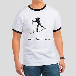 Vintage Cross Country Skier (Custom) T-Shirt