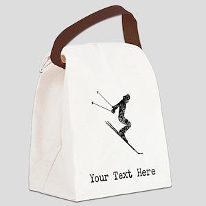 Vintage Ski Jumper (Custom) Canvas Lunch Bag