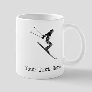 Vintage Ski Jumper (Custom) Mugs
