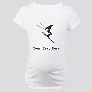 Vintage Ski Jumper (Custom) Maternity T-Shirt