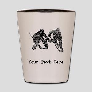 Vintage Hockey Players (Custom) Shot Glass
