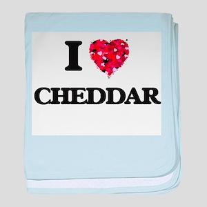 I love Cheddar baby blanket