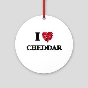 I love Cheddar Ornament (Round)