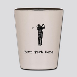 Vintage Golf Swing (Custom) Shot Glass