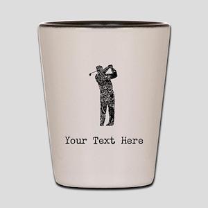 Vintage Golfer (Custom) Shot Glass