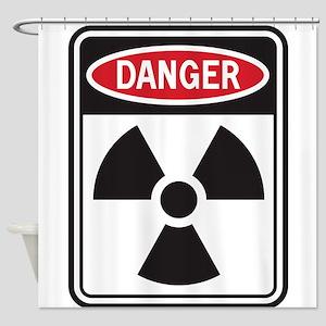 Danger Radiation Shower Curtain