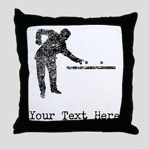 Vintage Pool Player (Custom) Throw Pillow