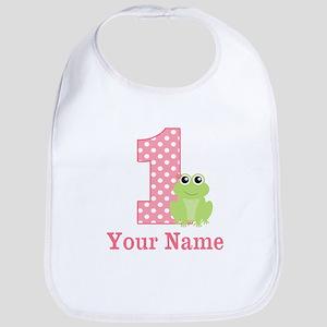 1ST Birthday Frog Personalized Bib