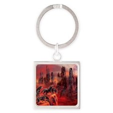 Wolves Of Future Passed Square Keychain