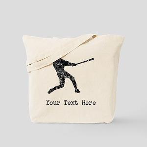 Vintage Baseball Player (Custom) Tote Bag