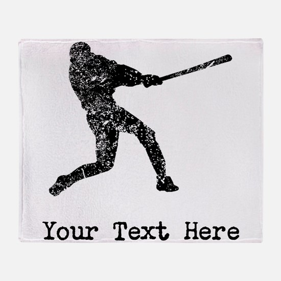 Vintage Baseball Player (Custom) Throw Blanket