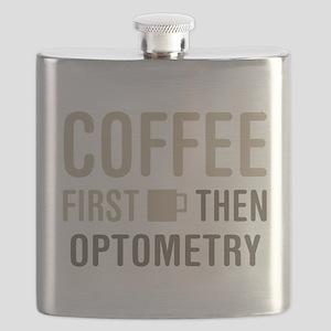 Coffee Then Optometry Flask