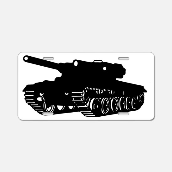 tank army armored Aluminum License Plate