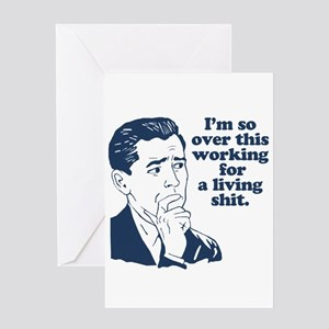 Sarcastic greeting cards cafepress so over it greeting cards bookmarktalkfo