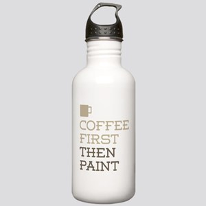 Coffee Then Paint Stainless Water Bottle 1.0L