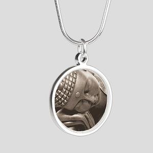 Thai Buddha Silver Round Necklace