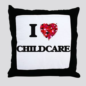 I love Childcare Throw Pillow
