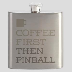 Coffee Then Pinball Flask
