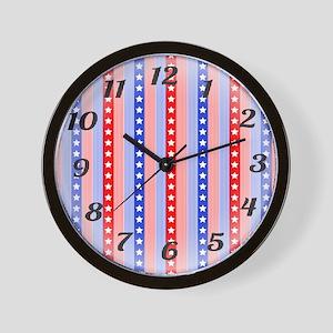 Patriotic Clock Wall Clock