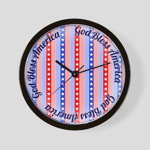 God Bless America Wall Clock