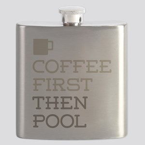 Coffee Then Pool Flask