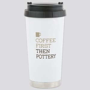 Coffee Then Pottery Stainless Steel Travel Mug