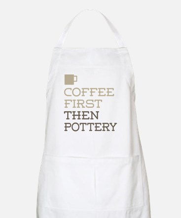 Coffee Then Pottery Apron